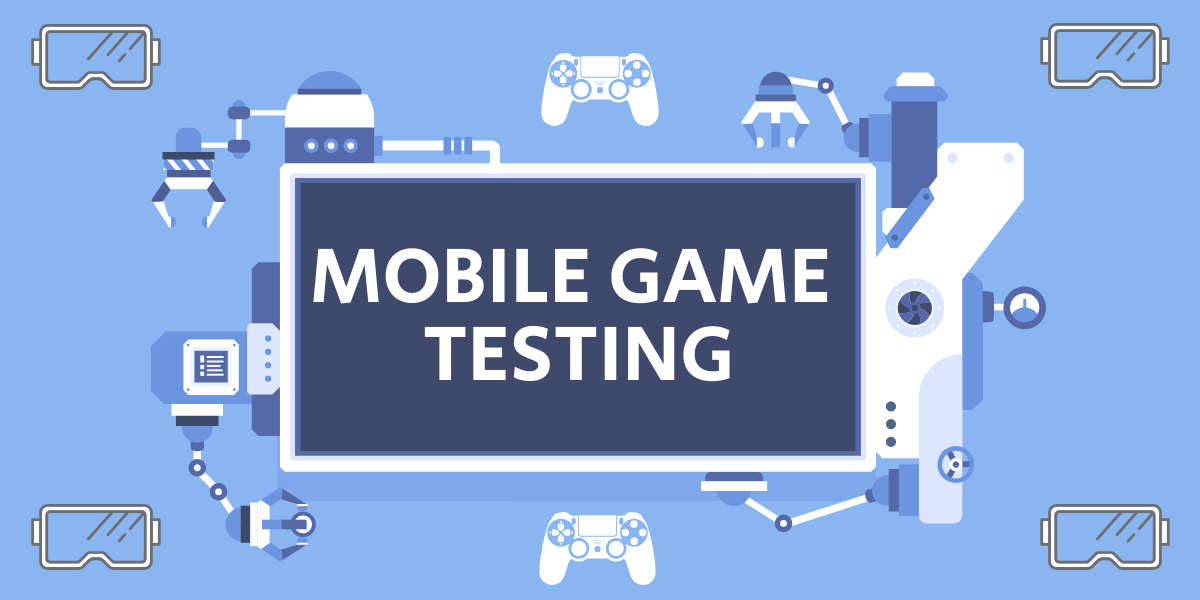 Ilustrasi tes permainan dengan menggunakan smartphone