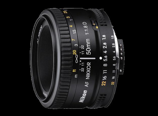 50mm f / 1.8D