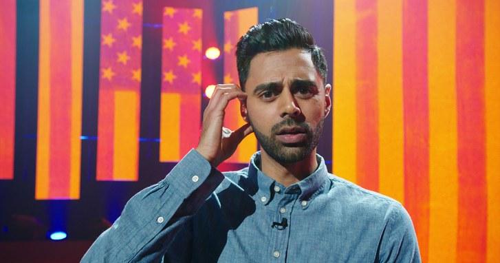 Hasan Minhaj performing