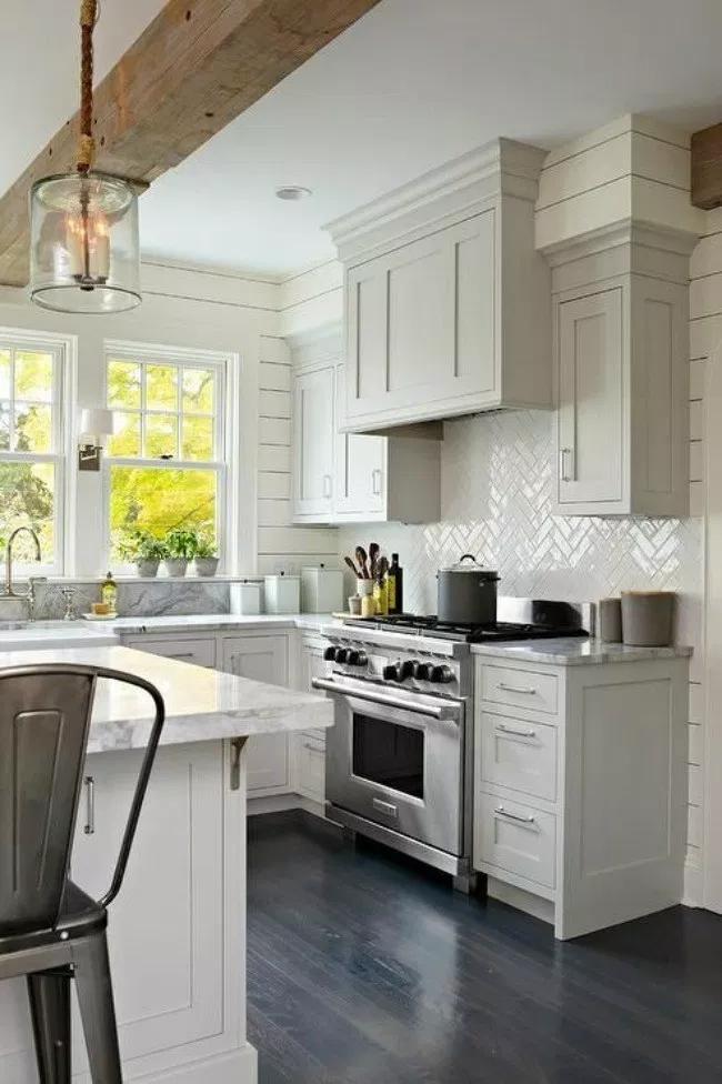 12 Gorgeous Farmhouse Kitchen Cabinets, Farmhouse Kitchen White Shaker Cabinets