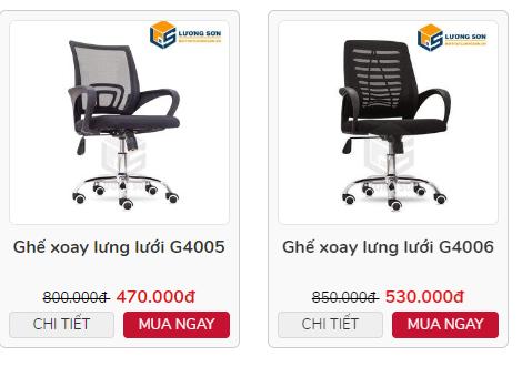 Ghế xoay văn phòng có giá thành hợp túi tiền