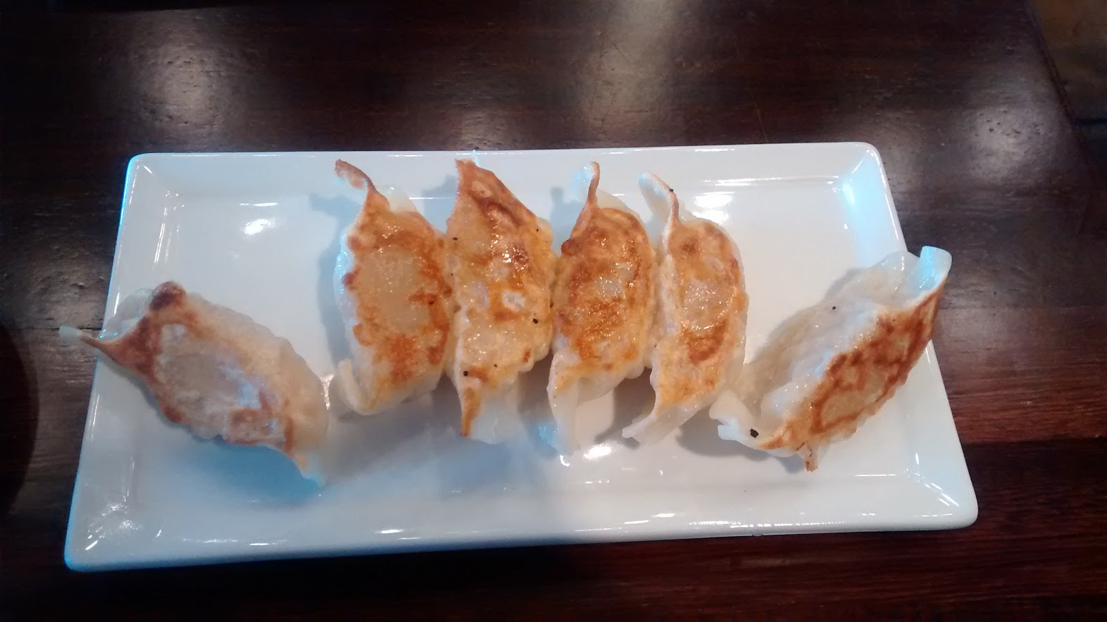 red tiger shrimp potstickers