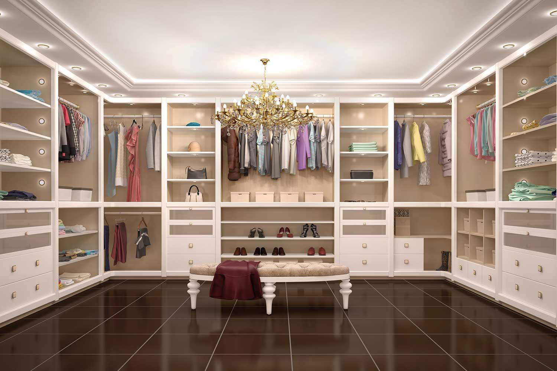 Thiết kế phòng thay đồ hiện đại và sang trọng