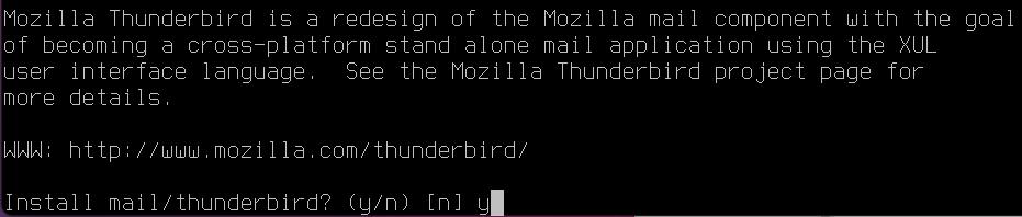 Install Thunderbird on FreeBSD [Desktop Installer]. Source: nudesystems.com