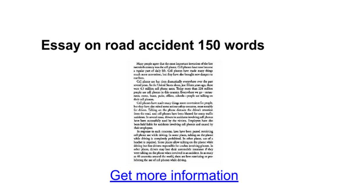 essay on road accident words google docs