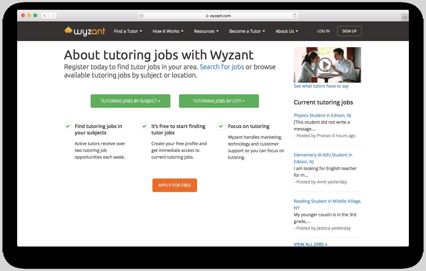 aulas particulares online no Wyzant