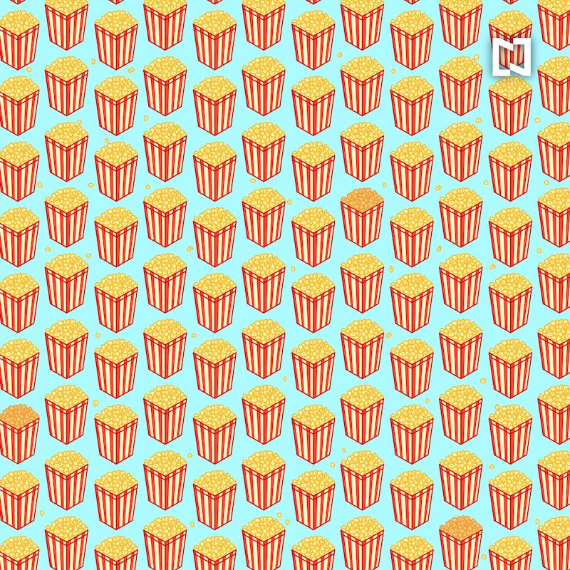 Cadê a pipoca de caramelo? Desafio visual