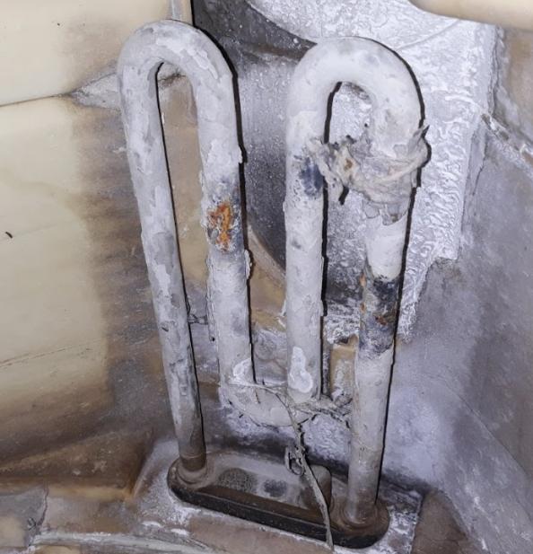Чистка тена стиральной машины