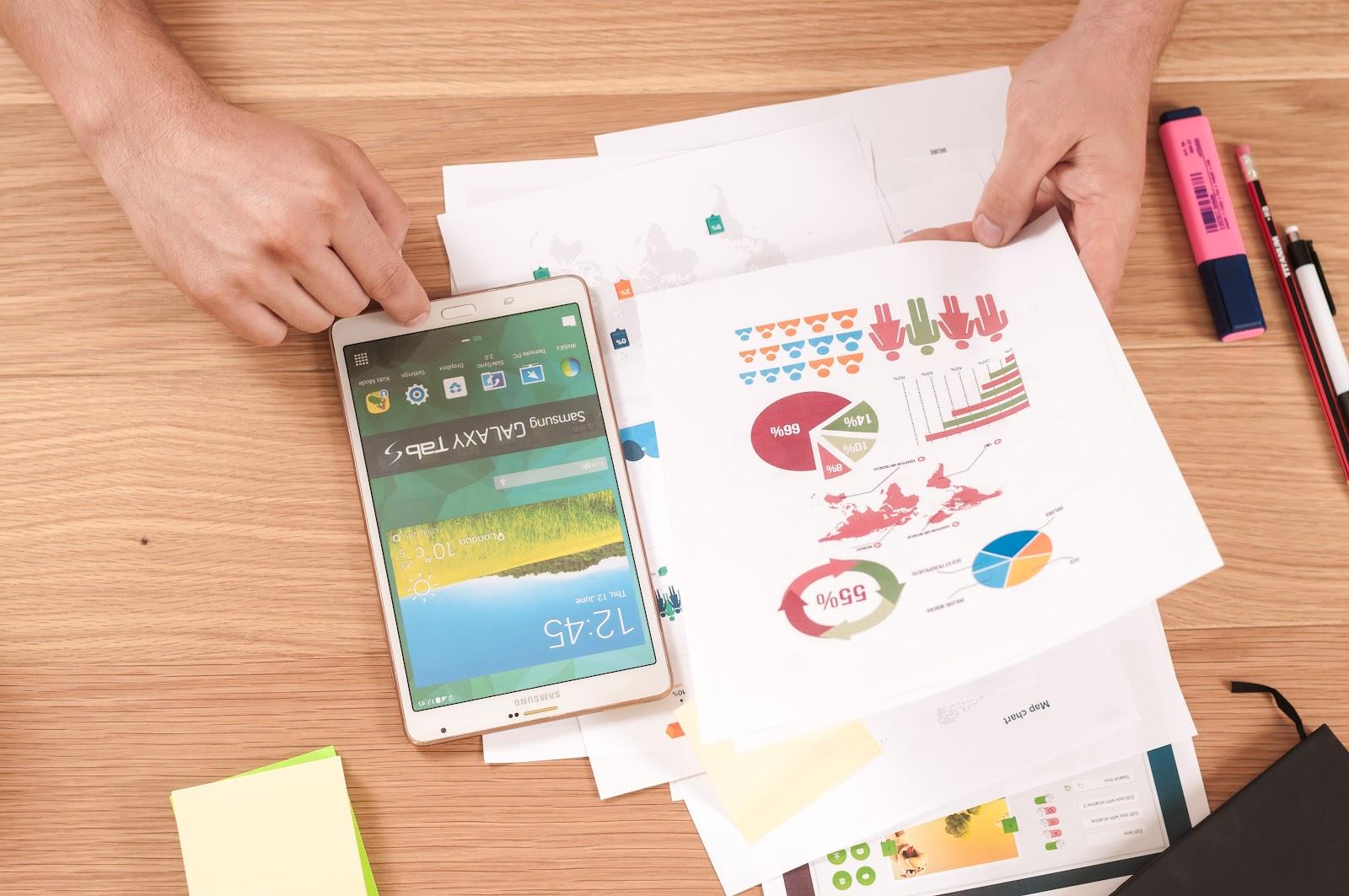 People analyzing B2B sales strategies