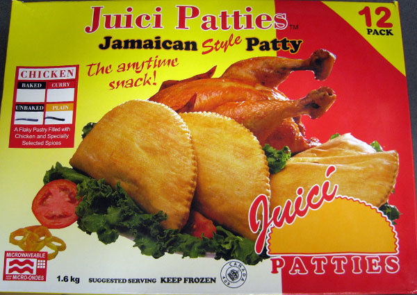 Juici Patties brand Jamaican Style unbaked Chicken Patty - 1.6 kg