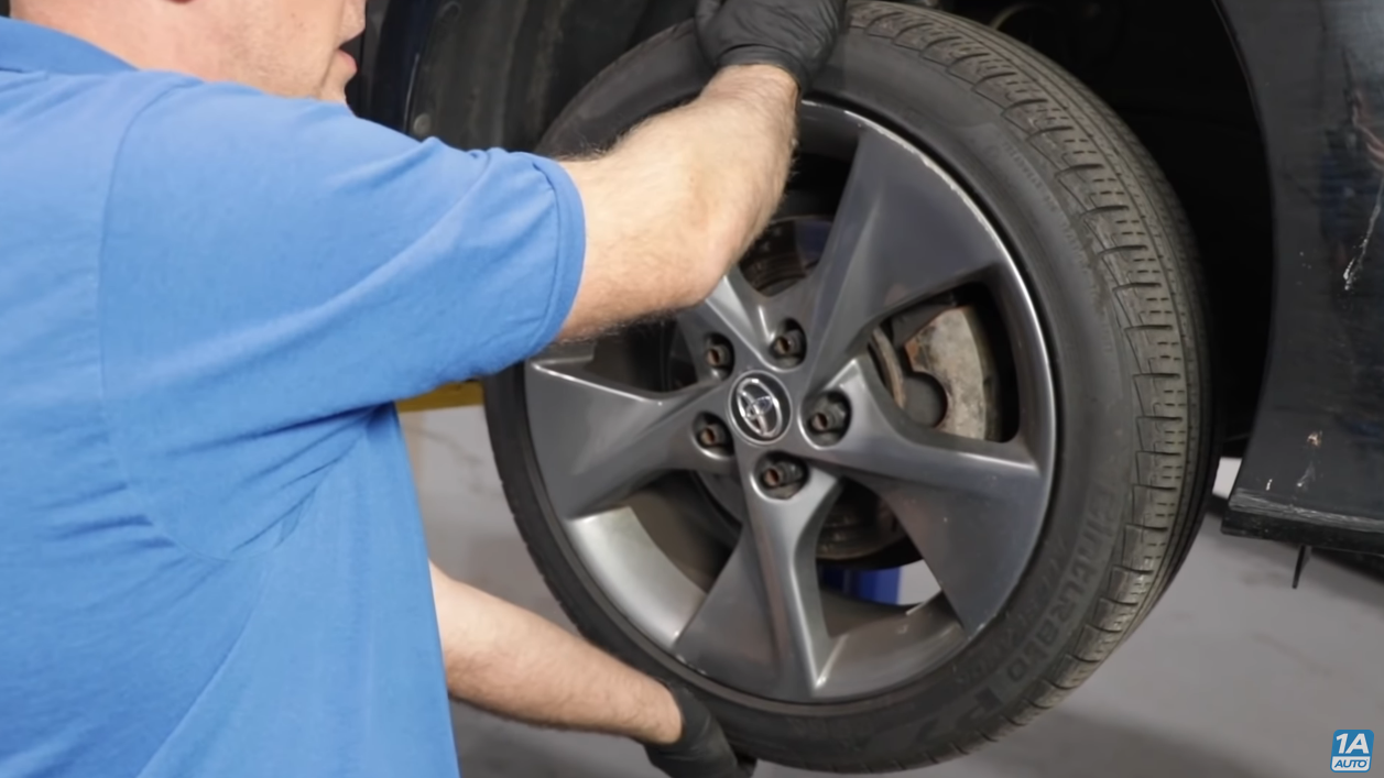 checking wheel, tires, and brakes, for problems