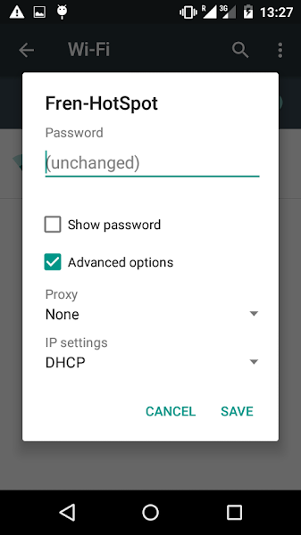 Android 5.1 Wifi password