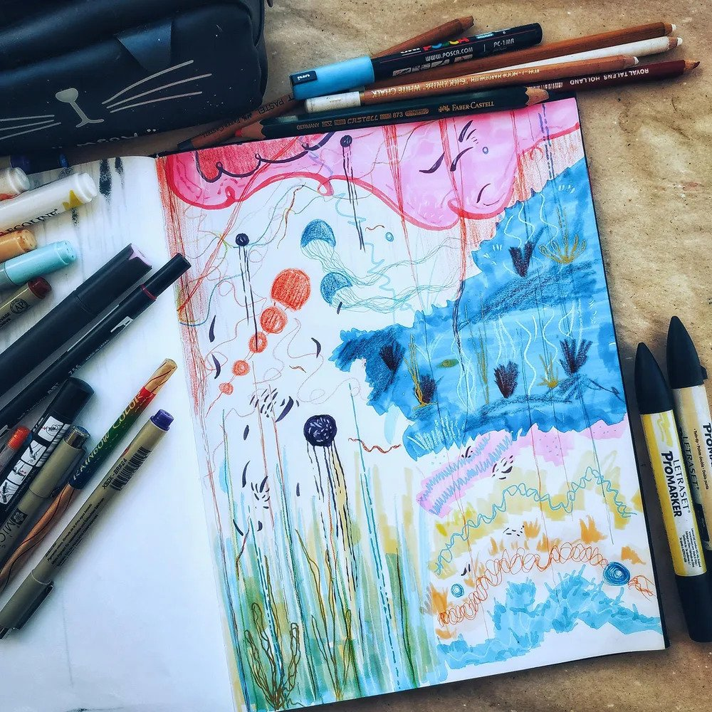 Experimental art using creative prompts by Isa Cienfuegos