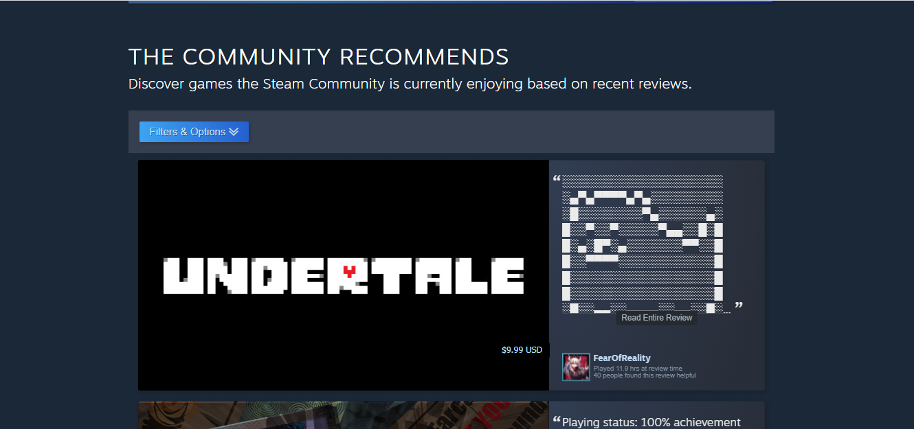 Community recommendations