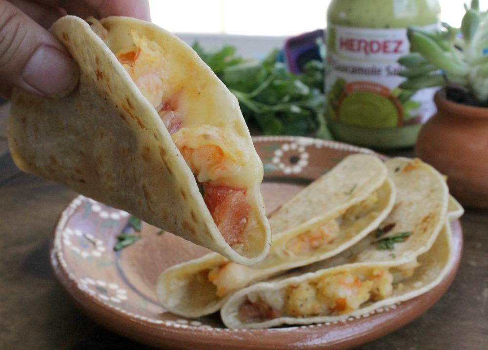 Tacos Gobernador, Cheesy Shrimp Tacos.jpg
