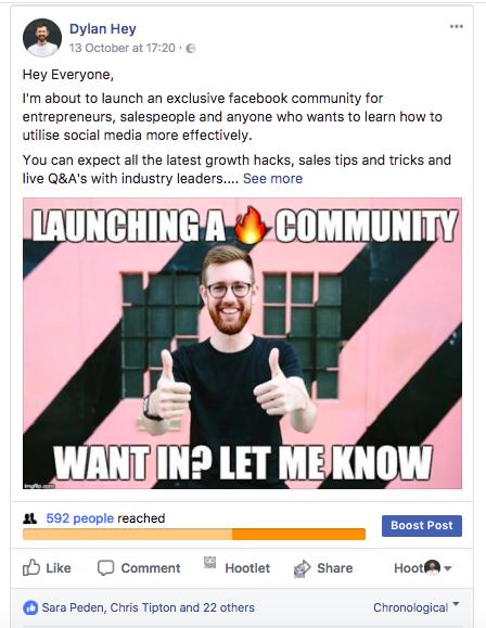 selling on social media facebook