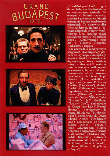 Tył ulotki filmu 'Grand Budapest Hotel'