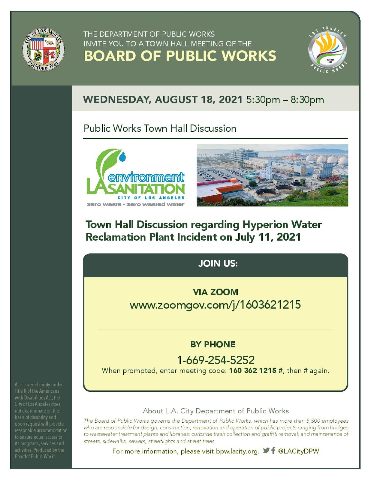 Town Hall Hyperion Plant Info Flyer