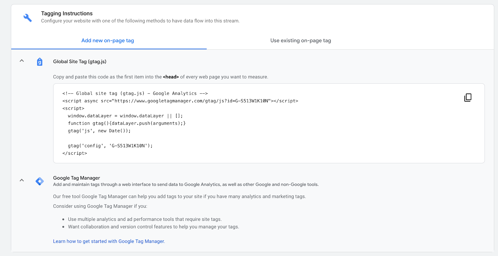 tagging instructions on google tag manager