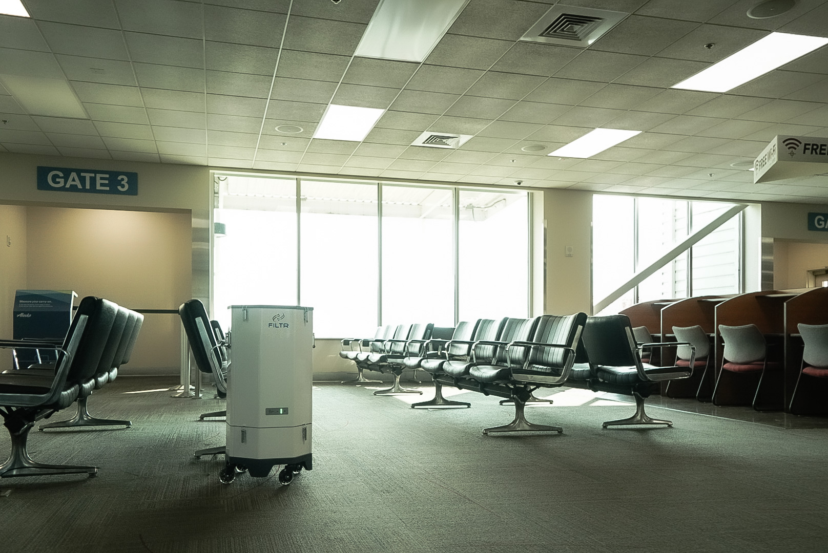 Lighthouse Worldwide Solution installed a cleanroom grade air purifier in the Rogue Valley Airport to help improve southern Oregon air quality.