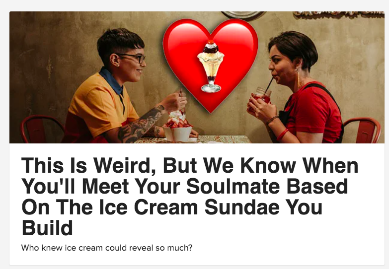 Quiz cover for We know when you'll meet your soulmate based on the ice cream sundae you build