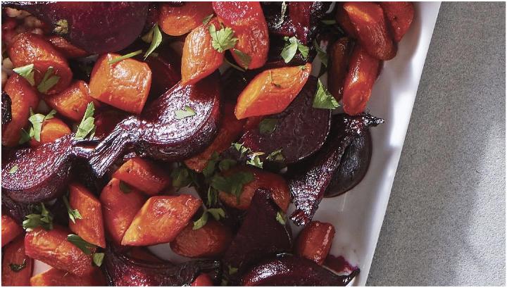 thanksgiving potluck recipe - Roasted beet & carrot salad
