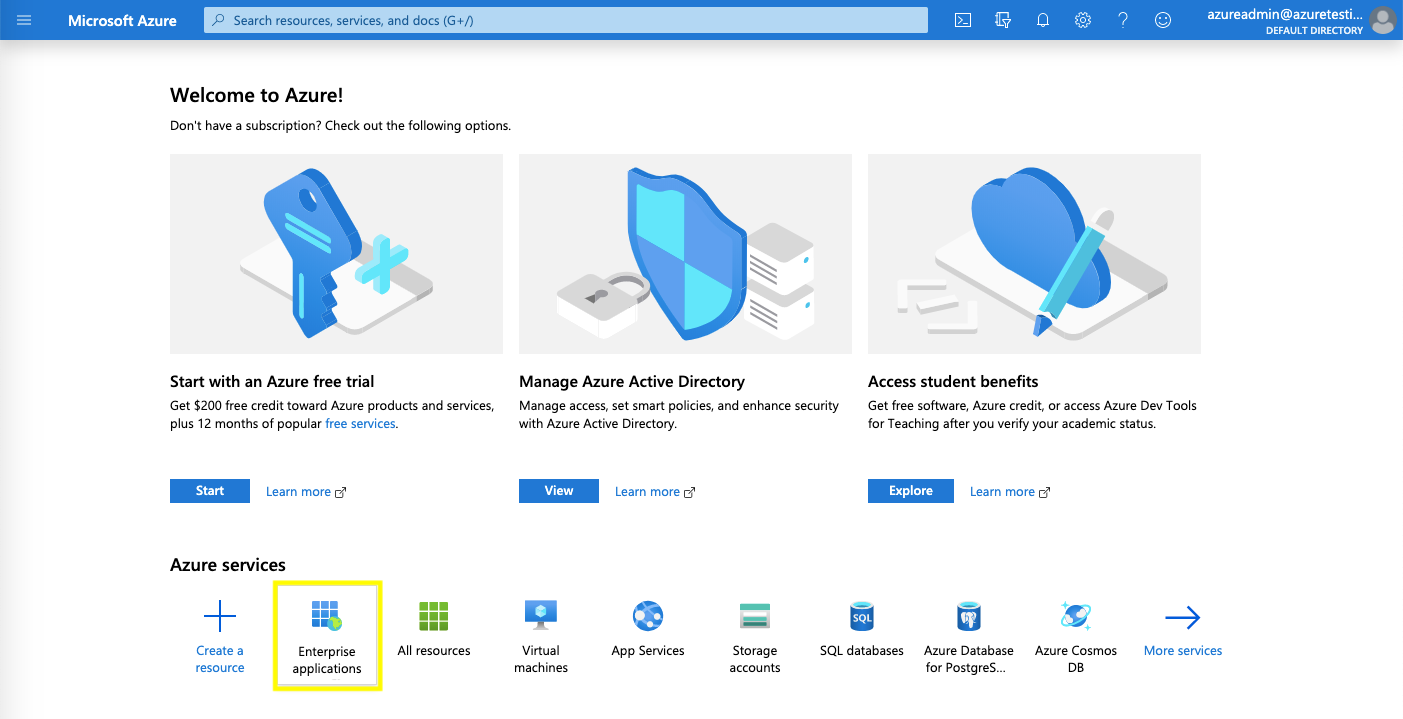 Creating enterprise application in Azure AD