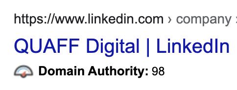 LinkedIn Domain Authority - improving your google ranking