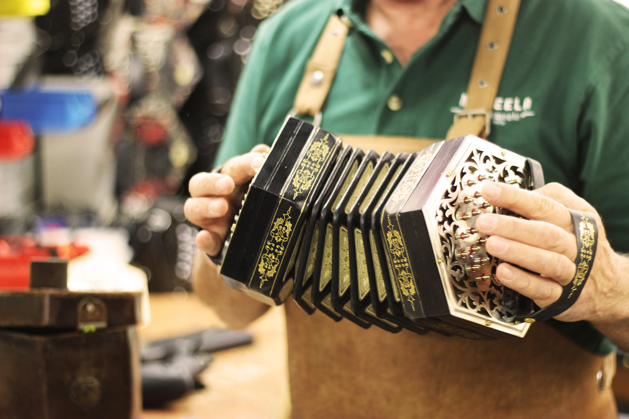A Beautiful antique Jeffries Anglo Concertina from McNeela Instruments.