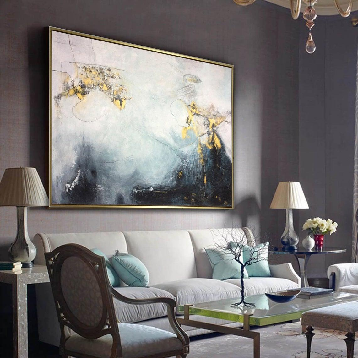 abstract interior painting