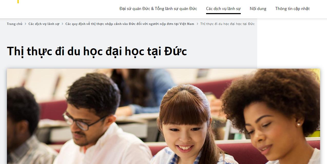 Bạn có thể vào website của Đại sứ quán Đức để tải mẫu đơn xin visa du học Đức về