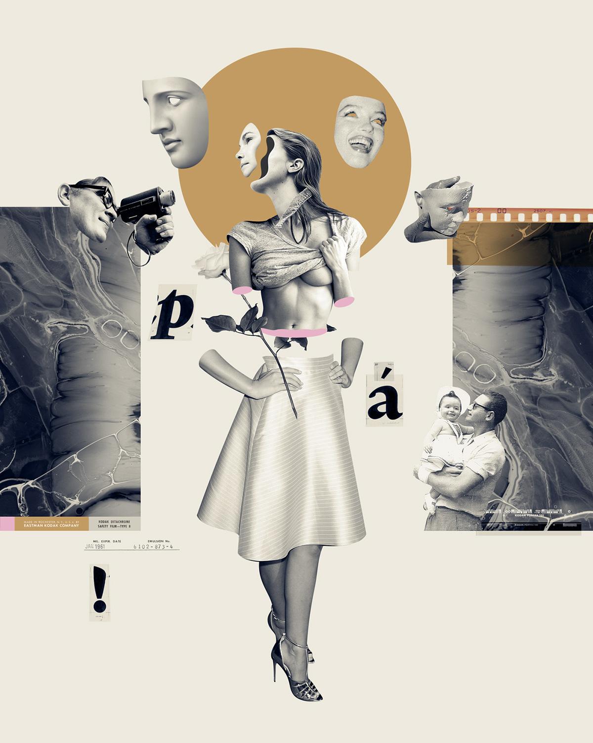 Beautiful Collage Illustration by Daniel Escudeiro