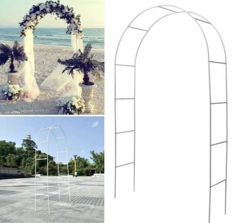 DIY wire wedding backrdop
