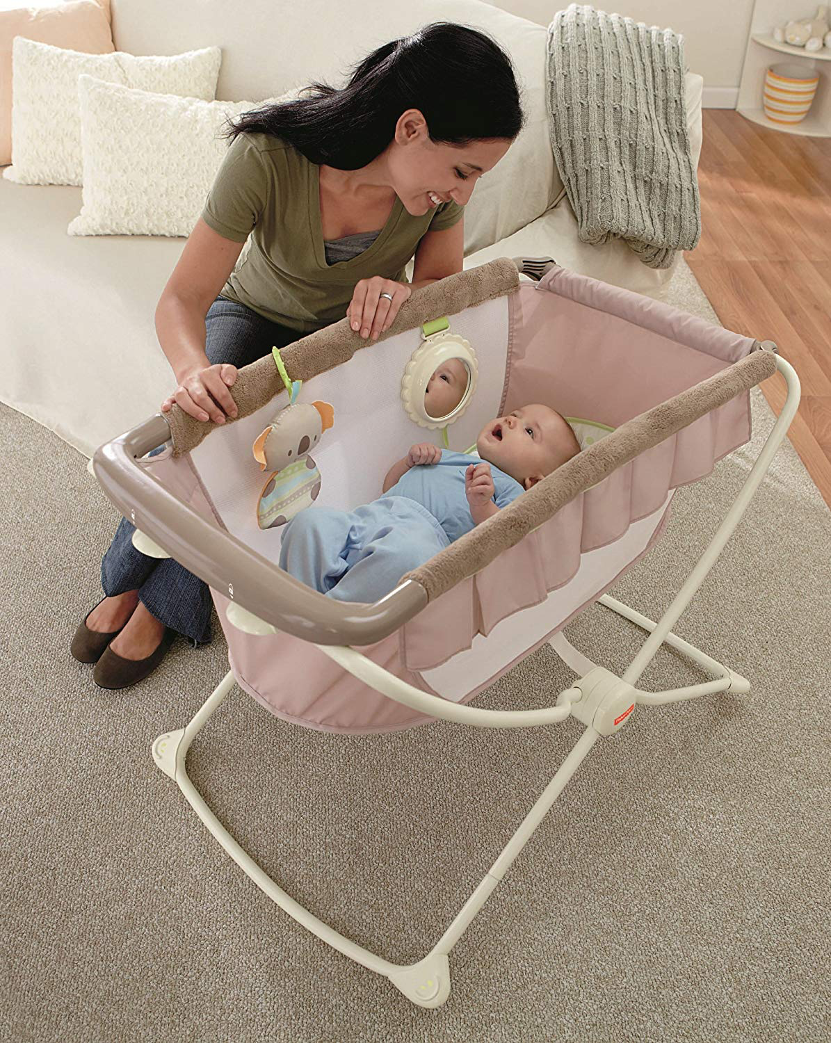 portable rock 'n play bassinet newborn