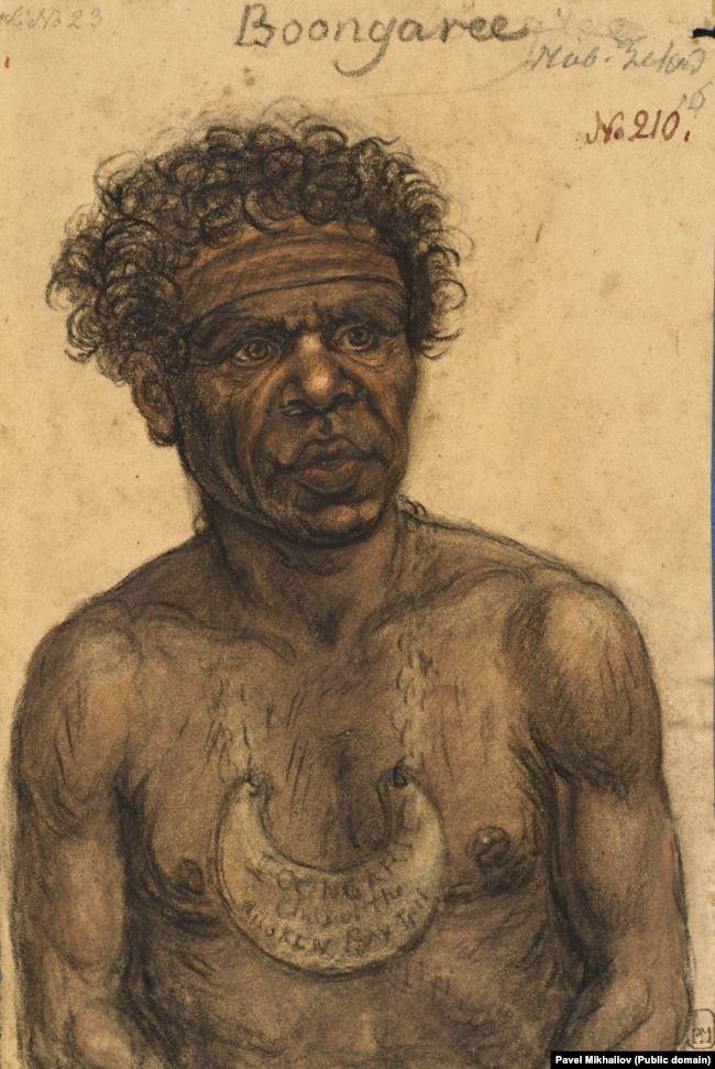 Коренной австралиец Бунгари работал в комиссии, организовавшей встречу русской экспедиции.