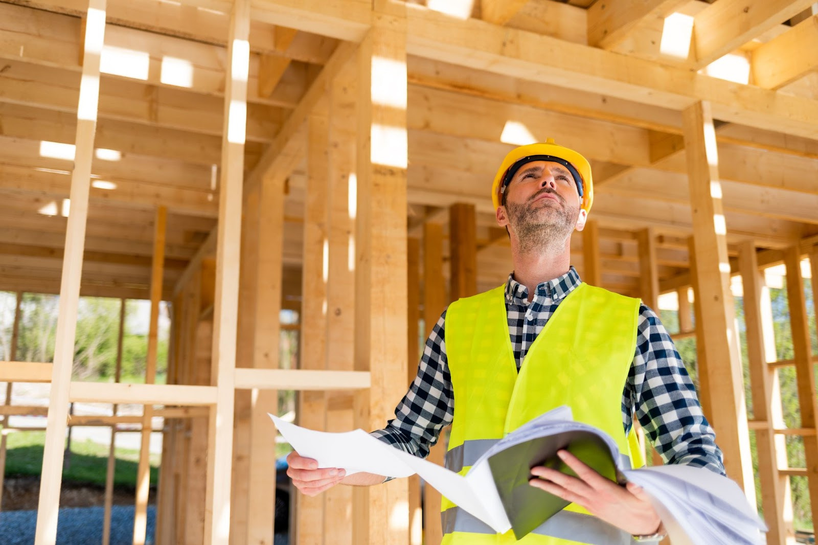 structural engineer assessing structural elements