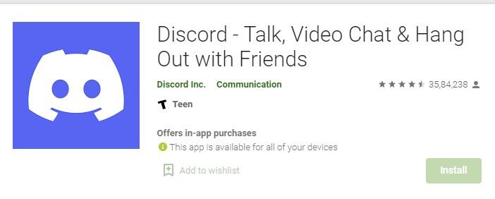Update Discord  Play Store