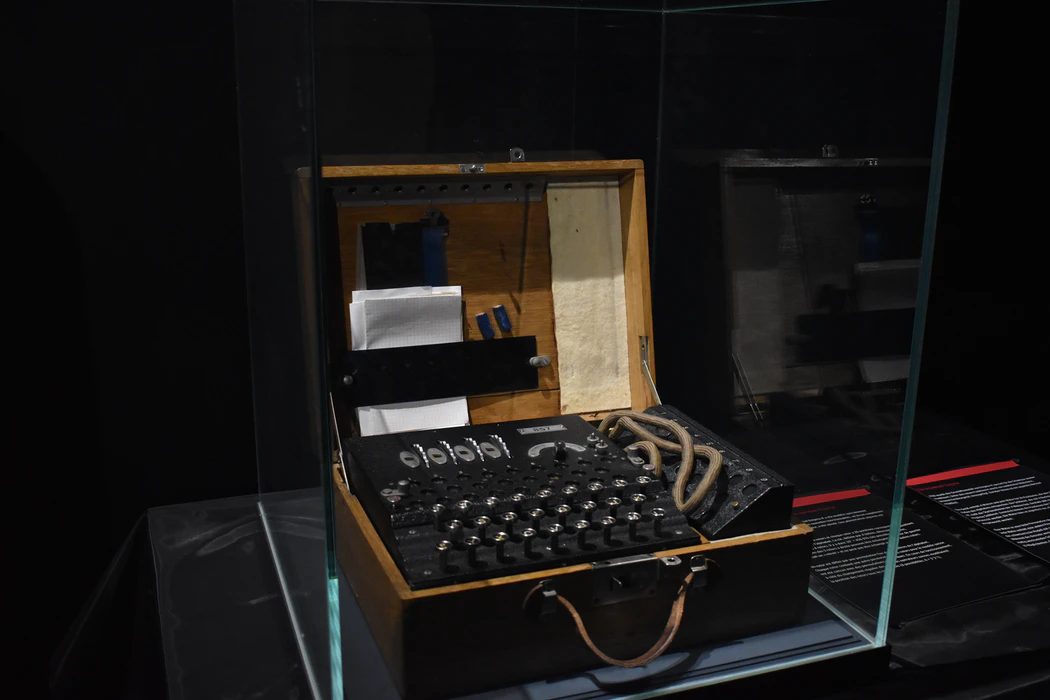An encryption device dubbed the Enigma machine