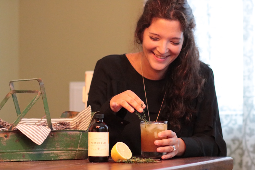 Greta McCoy, owner of Hudson & Lee Honey Simple Syrup.