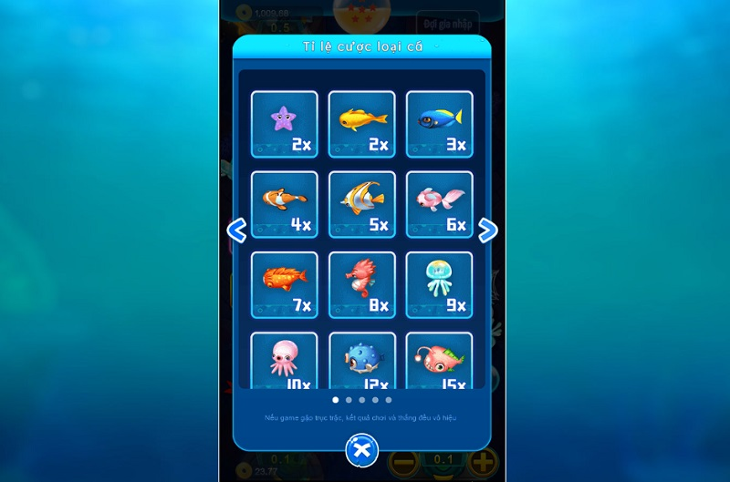 Các loại cá tại Letou