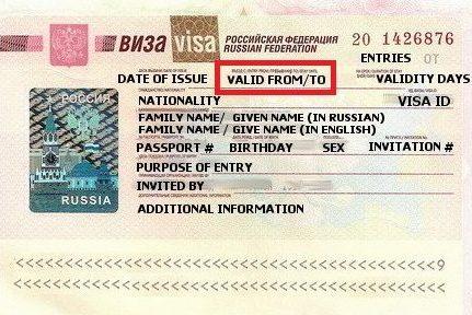 Russian visa details