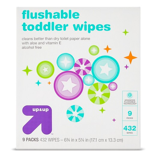 up & up Toddler and Family Flushable Wipes, 432 wipes