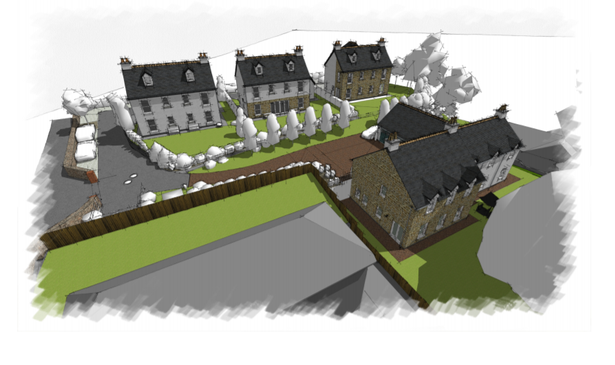 Artist impression of the housing plans for the former Bovey Tracey Hospital