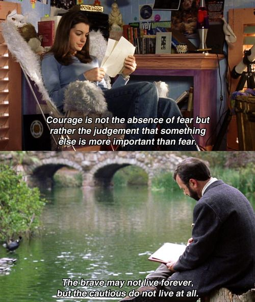 Image result for princess diaries courage is not the absence of fear