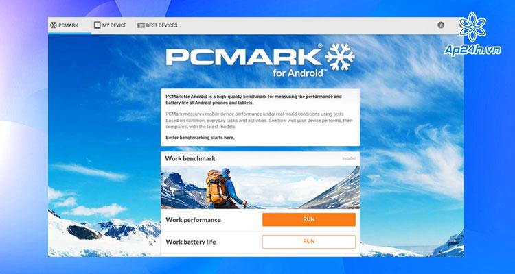 Đo hiệu năng điện thoại bằng PCMark