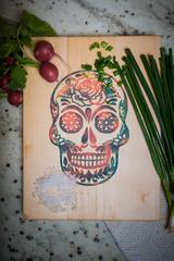 Rose Sugar Skull Charcuterie Board