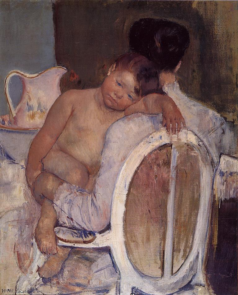2b mother-holding-a-child-in-her-arms MARY Cassatt 1890