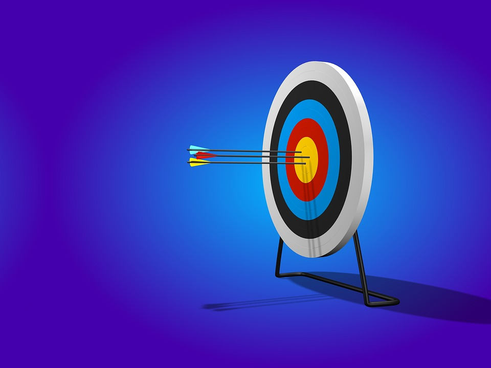 bullseye target and advice to entrepreneur precision in business