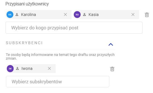 Przypisywanie użytkowników do postów w Publikatorze od NapoleonCat