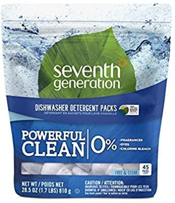 Seventh Generation Dishwasher Detergent Packs Products For Pregnant Mom